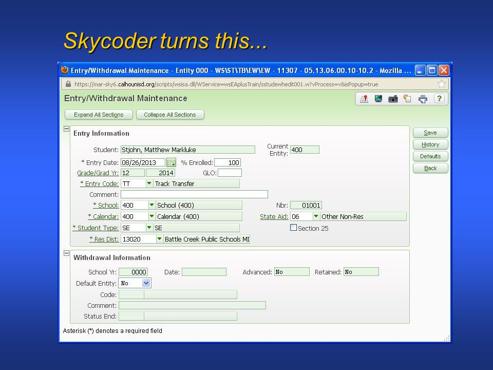 Skycoder turns this...