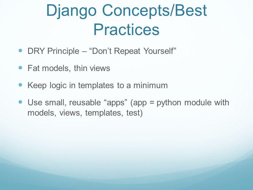 Django Project Layout django-admin.py startproject manage.py __init__.py settings.py urls.py wsgi.py