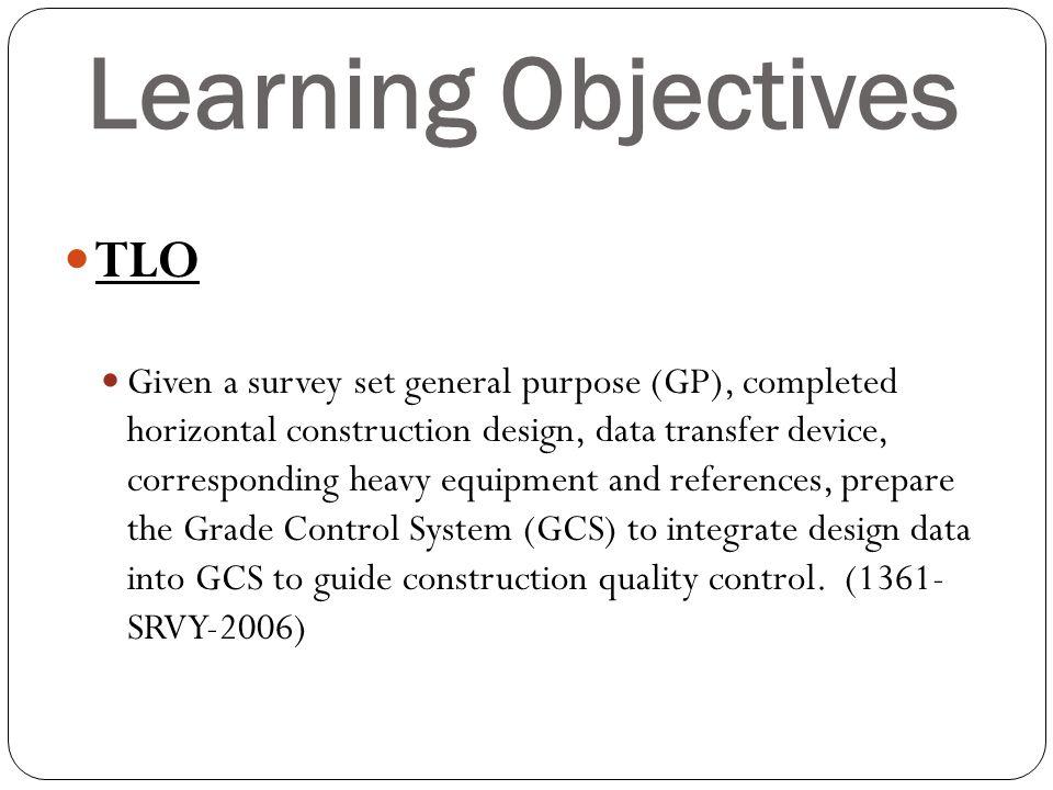 Learning Objectives ELO 1.