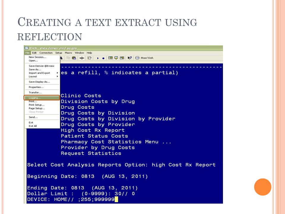 C REATING A TEXT EXTRACT USING REFLECTION