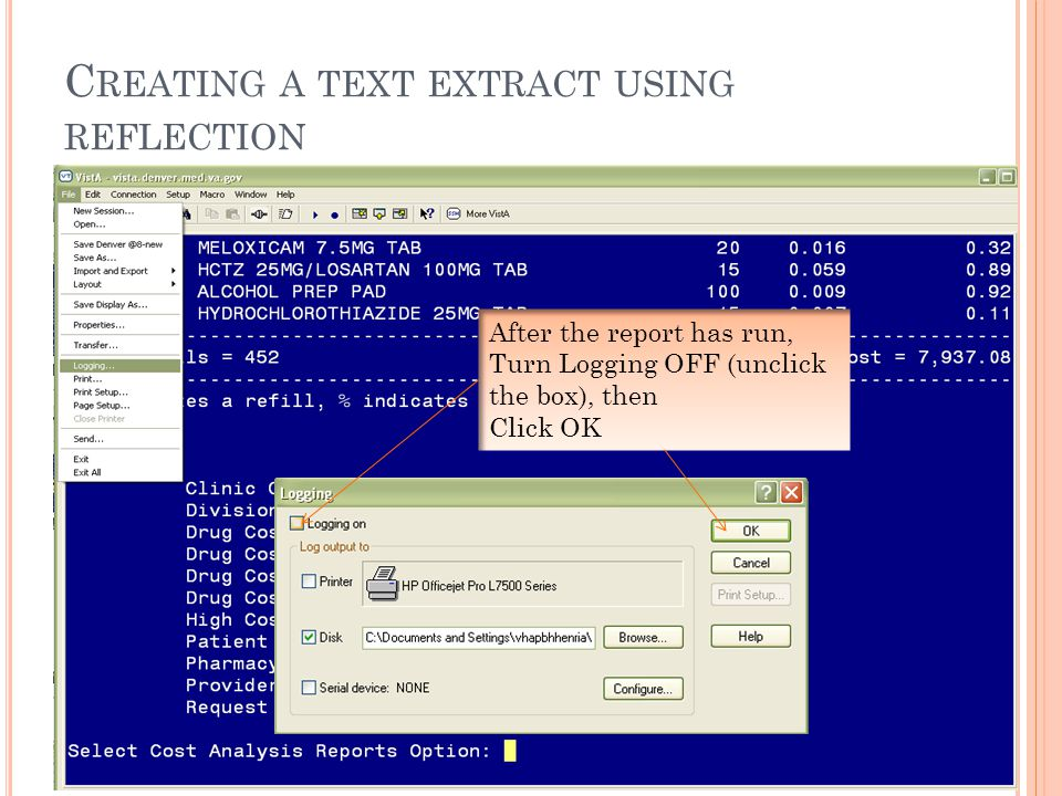 S CREEN C APTURE / L OG F ILE DEVICE: HOME// ;255;999999 LINUX-IN Fills That Cost at Least $0 for the Period: AUG 13,2011 to AUG 13,2011 Page 1 Run Date: AUG 16,2011 Rx # Drug QTY Un.Cost Total Cost -------------------------------------------------------------------------------- 4944862 PHENAZOPYRIDINE HCL 200MG TAB 45 0.089 4.01 *4873953 CATH SET,INTERMIT 12FR MMG/ONEIL#RLA1223 200 2.750 550.00 *4503842B CROMOLYN NA 100MG/5ML ORAL CONC 1440 0.343 493.92 *2814739J ADULT DIAPERS (BELTED) ONE SZ.