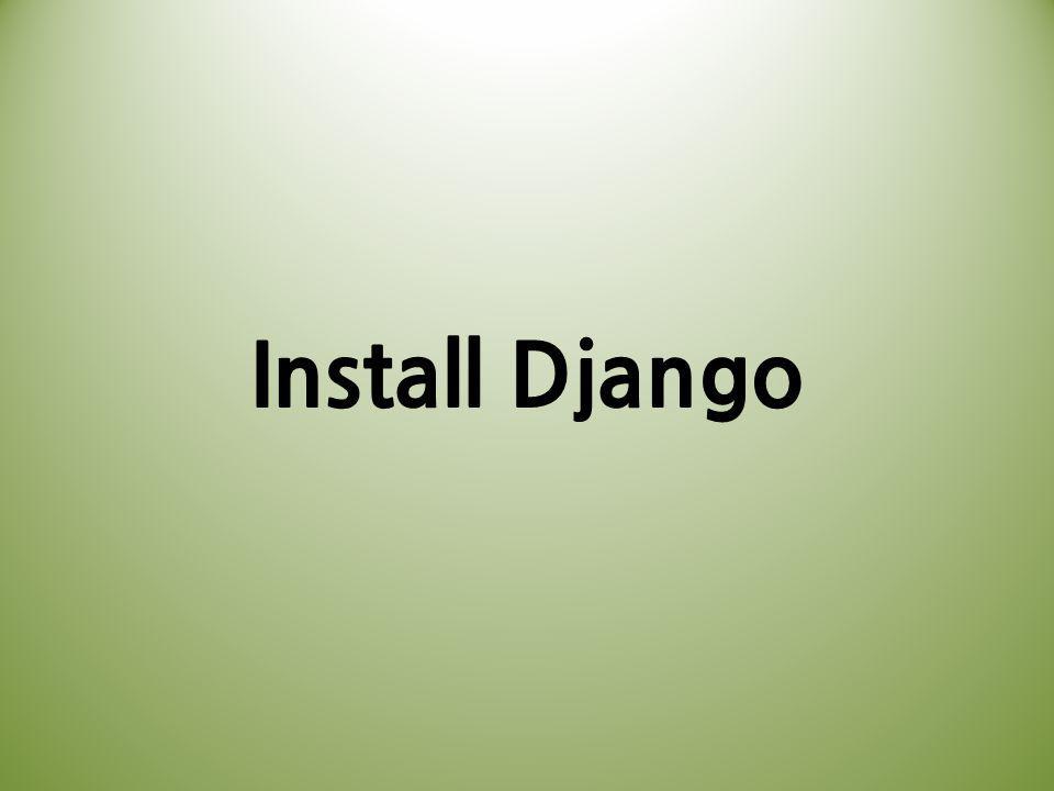 Install Django