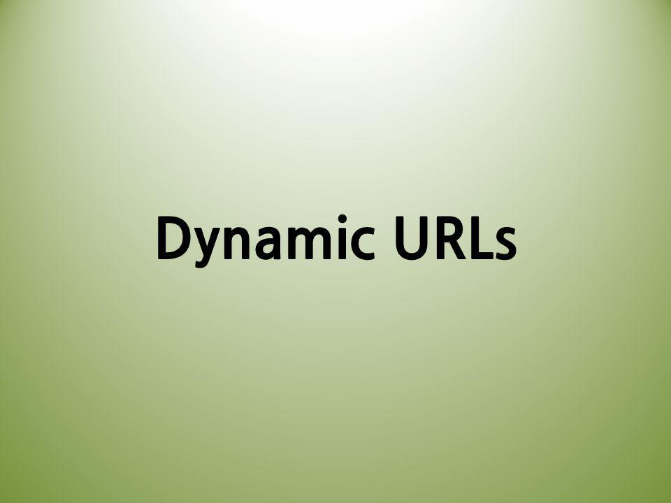 Dynamic URLs