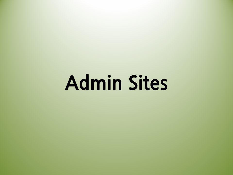 Admin Sites