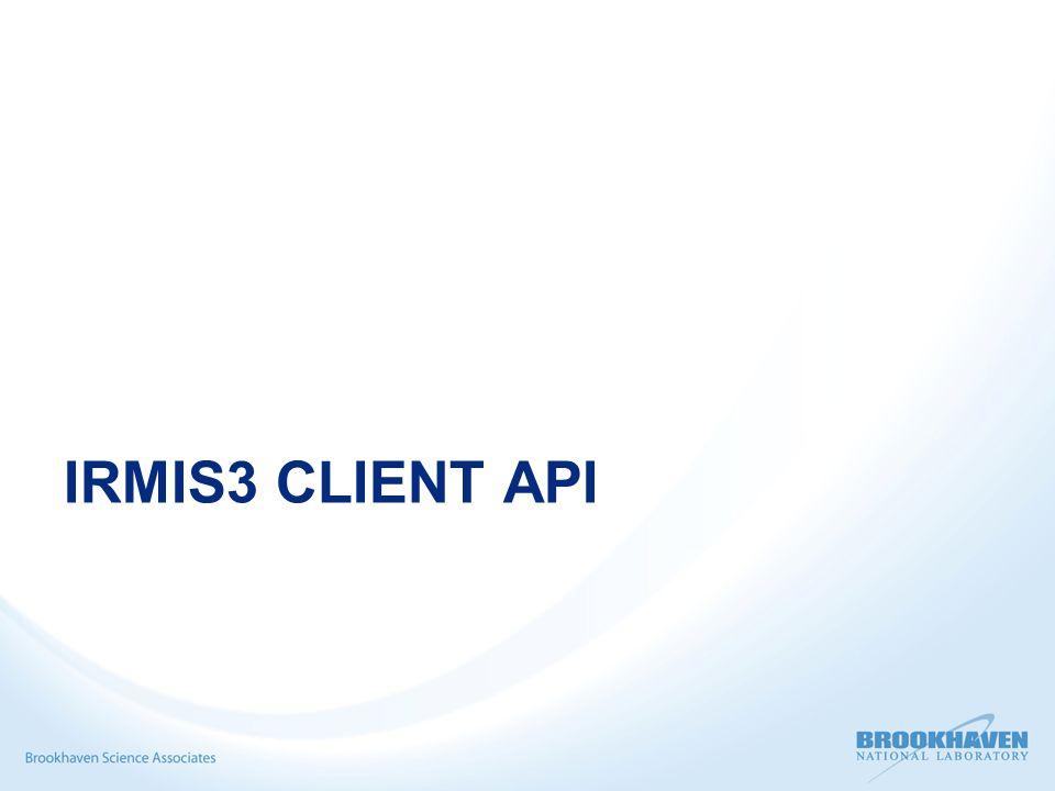 IRMIS3 CLIENT API