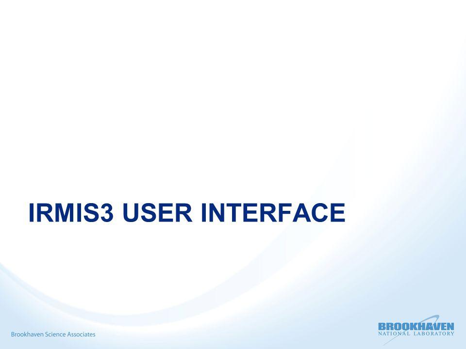 IRMIS3 USER INTERFACE