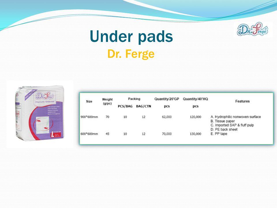 Under pads Dr. Ferge