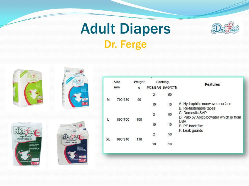 Adult Diapers Dr. Ferge
