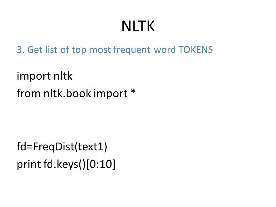 NLTK 3.