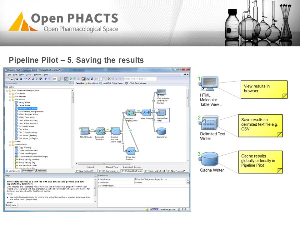 Pipeline Pilot – 5. Saving the results