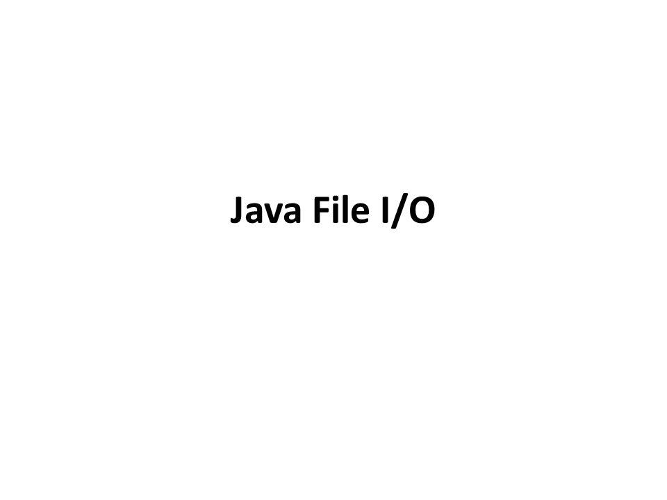Java File I/O