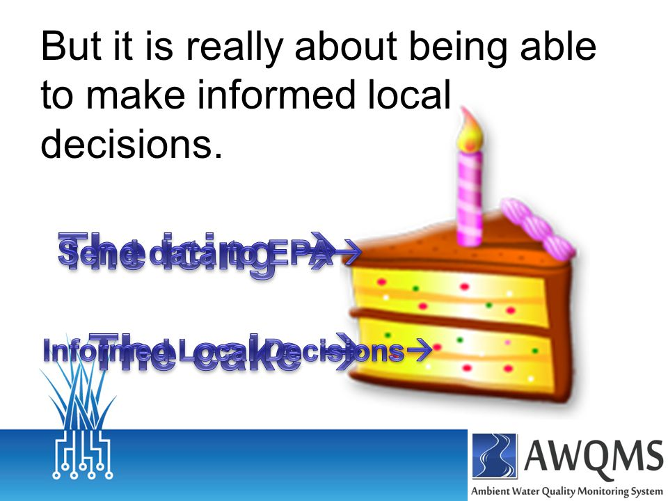 But it is really about being able to make informed local decisions.