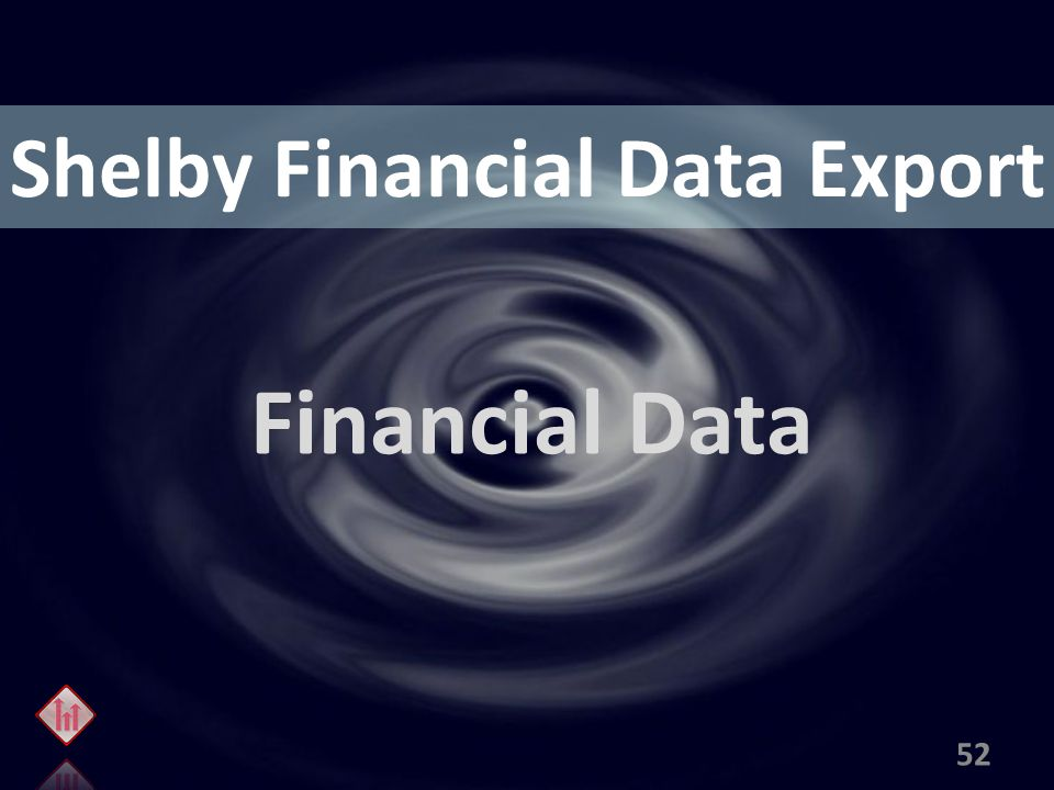 Shelby Financial Data Export Financial Data 52