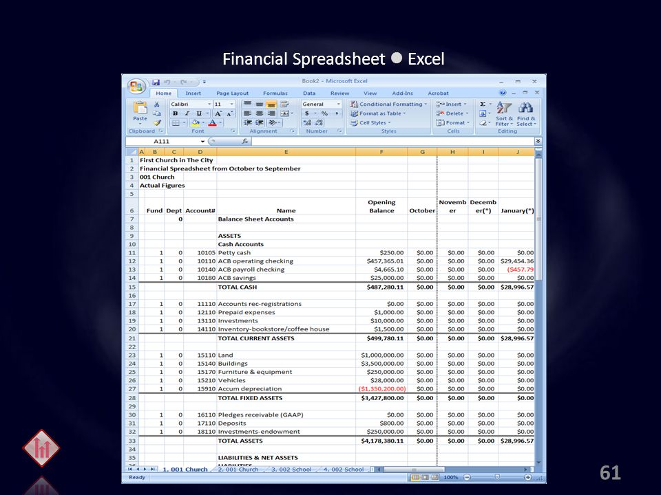Financial Spreadsheet Excel 61