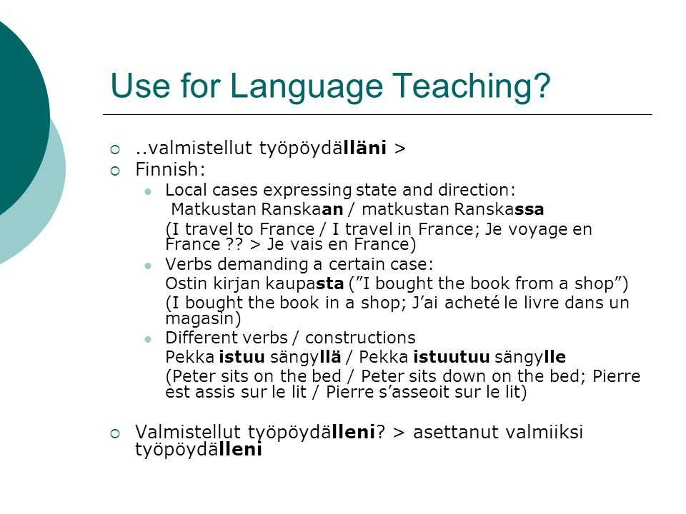 Use for Language Teaching.