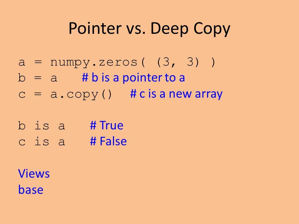 Pointer vs.