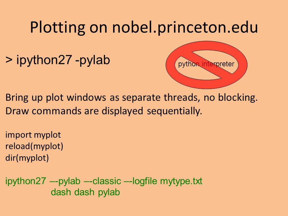 > ipython27 -pylab Bring up plot windows as separate threads, no blocking.