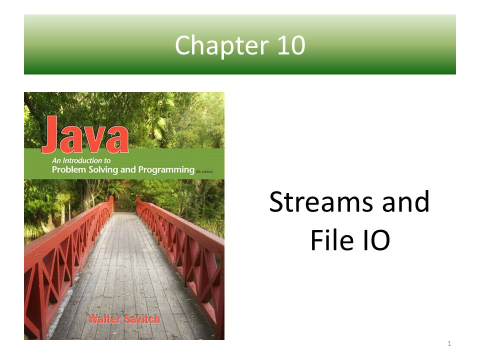 There are four steps in using file IO Open the file stream 1 Test the Connection 2 Perform the IO 3 Close the stream 4 12