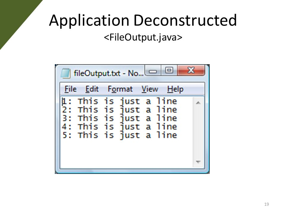 Application Deconstructed 19