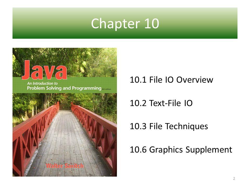 10.1 File IO Overview 3