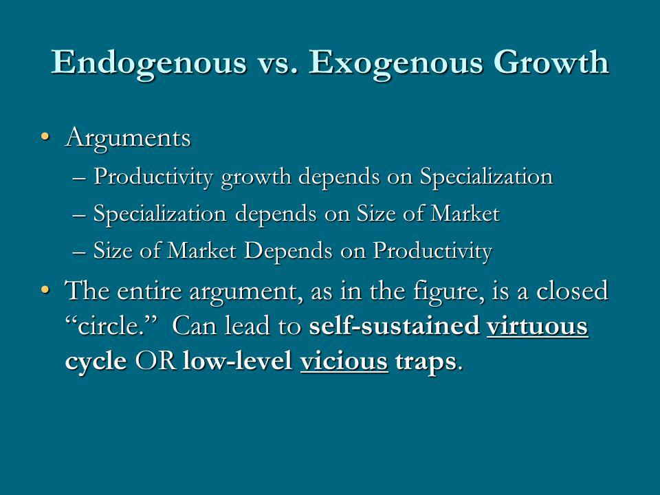 Endogenous vs.