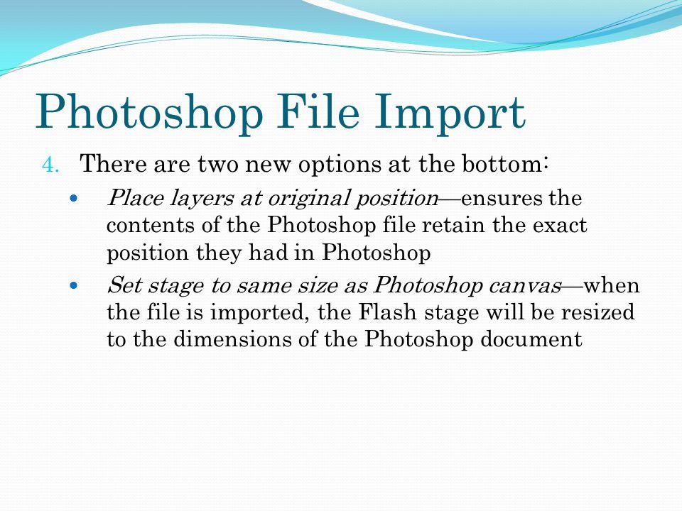 Photoshop File Import 4.