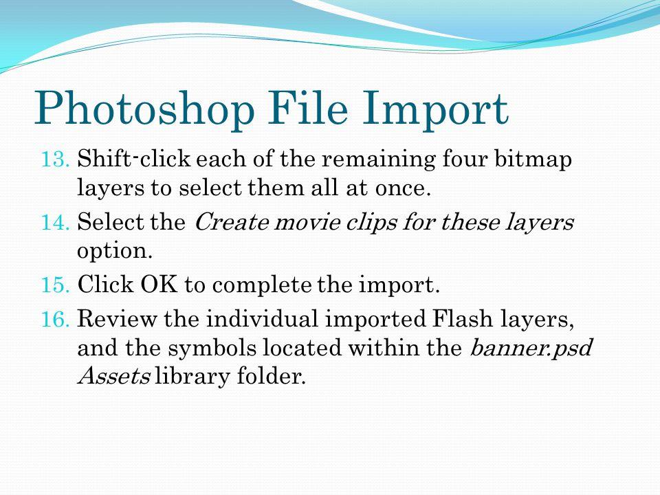 Photoshop File Import 13.