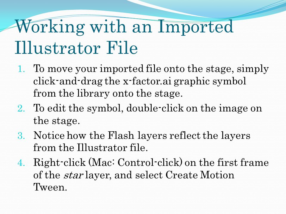 Working with an Imported Illustrator File 1.