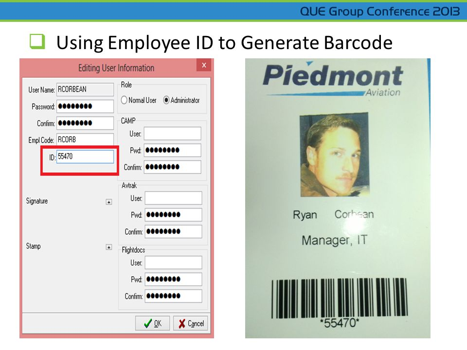  Using Employee ID to Generate Barcode
