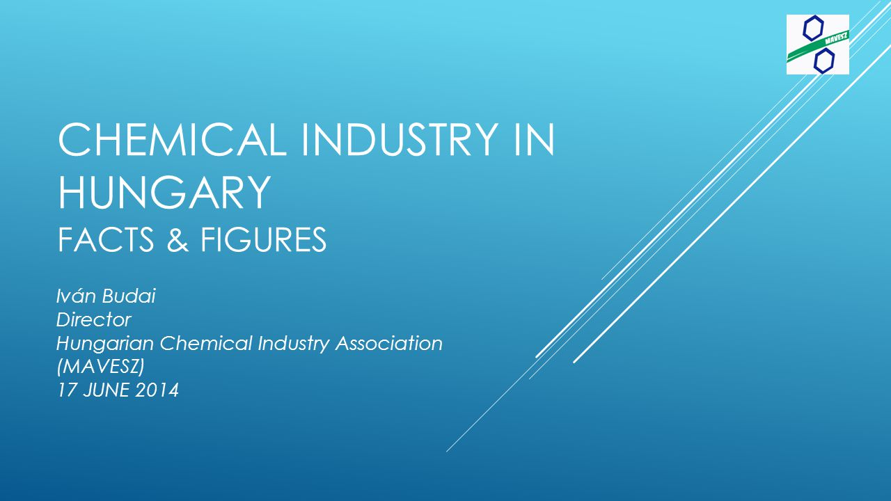 EU Chemical Industry EU chemical industry sales by countries Total €557 billion in 2013 HU 0,9% Others 85% of overall chemicals produced in 7 member states Germany, France, the Netherlands, Italy, UK, Spain, Belgium Hungarian chemindustry output about the level of PT, DK