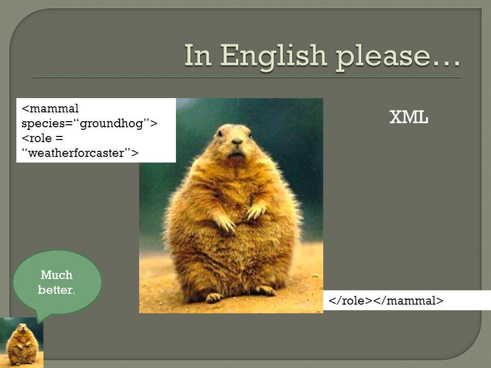 XML Much better.