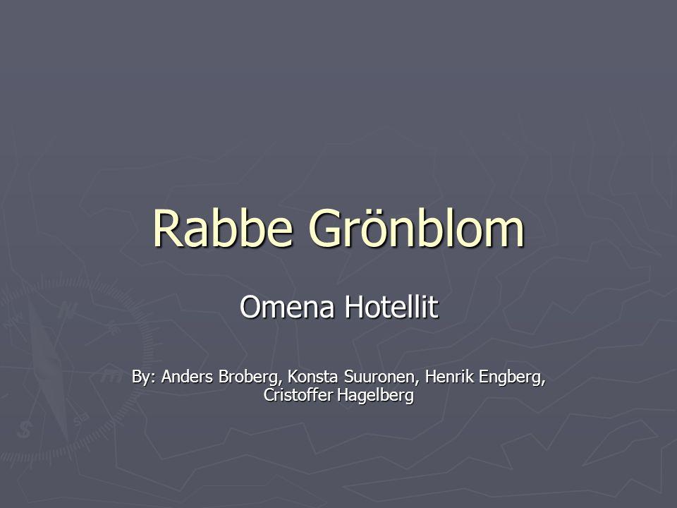 Rabbe Grönblom Omena Hotellit By: Anders Broberg, Konsta Suuronen, Henrik Engberg, Cristoffer Hagelberg