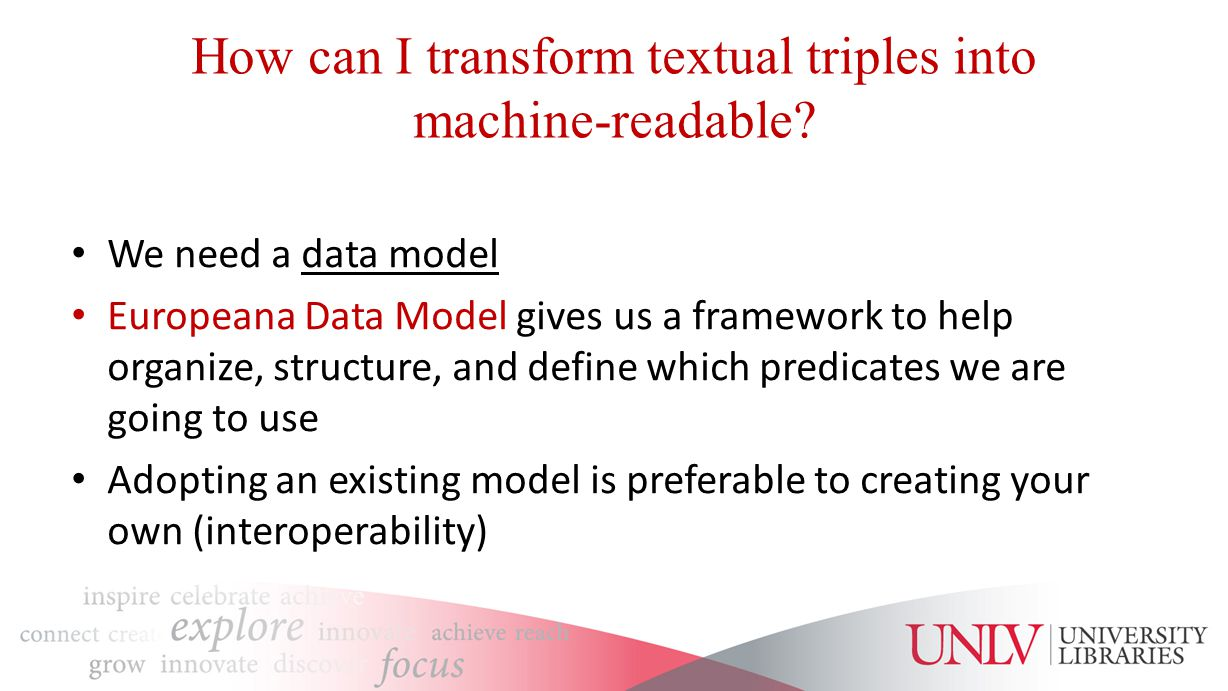 How can I transform textual triples into machine-readable.