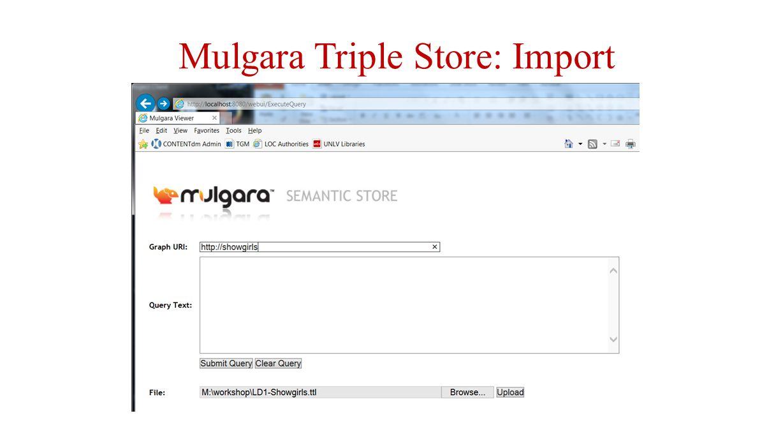 Mulgara Triple Store: Import