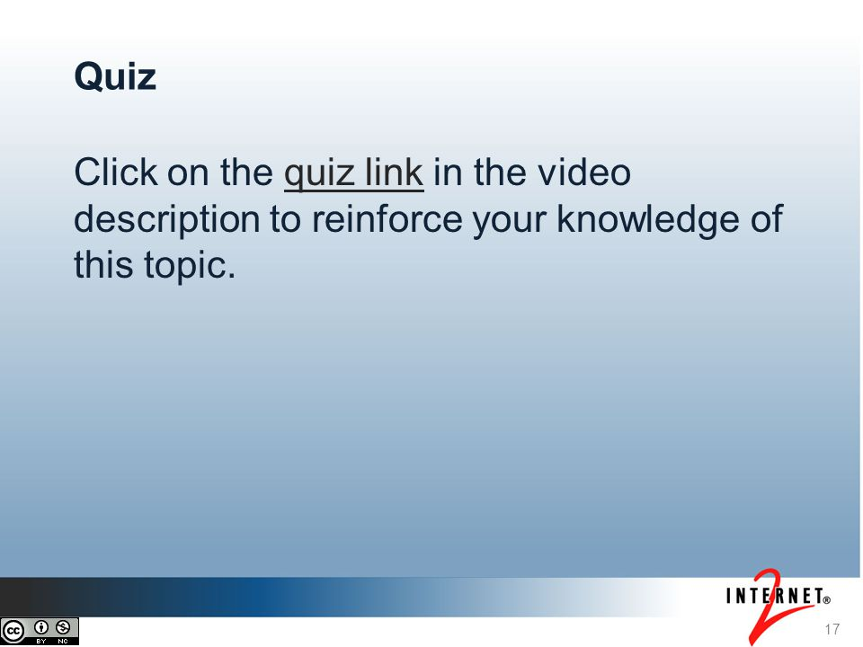 Click on the quiz link in the video description to reinforce your knowledge of this topic.quiz link 17 Quiz