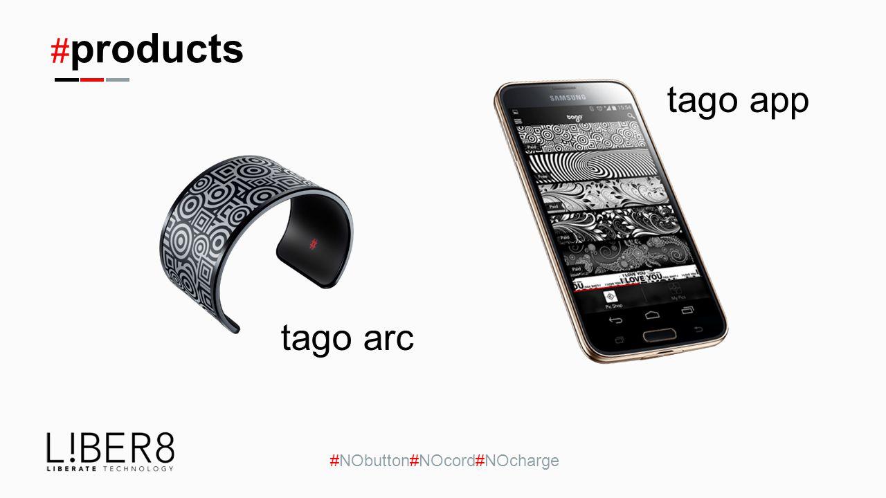 # products #NObutton#NOcord#NOcharge tago app tago arc