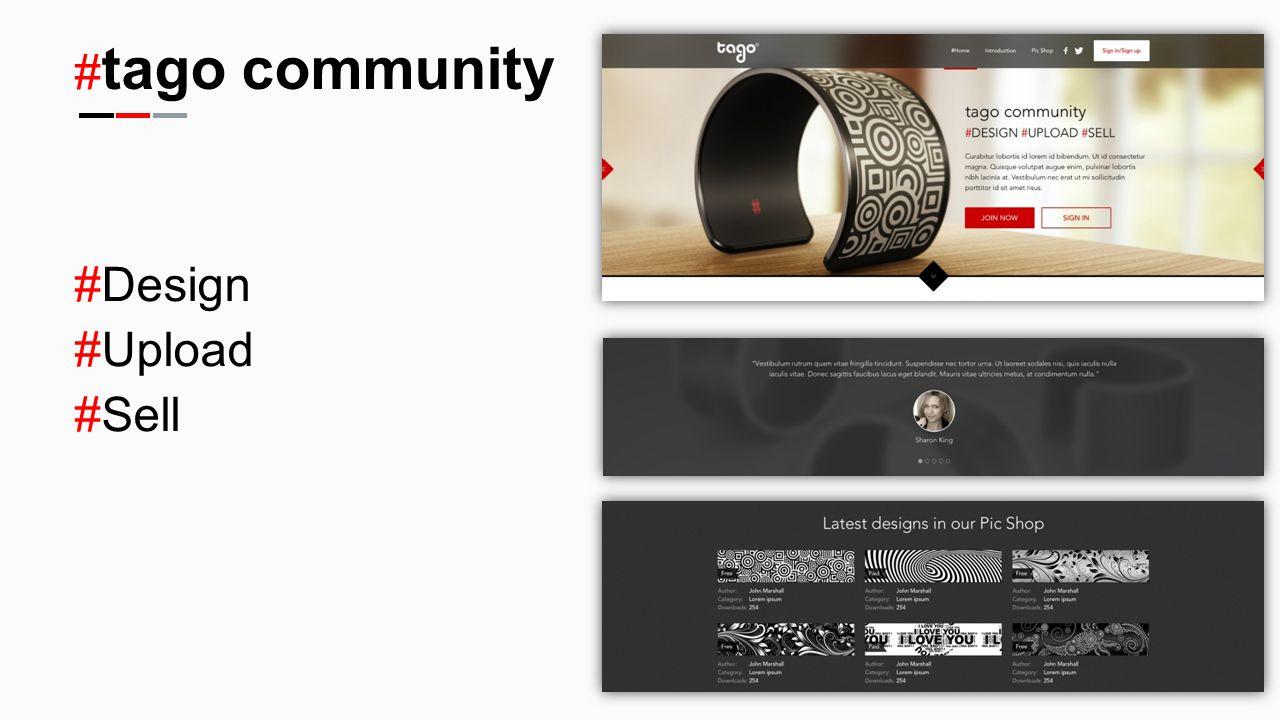 # tago community #Design #Upload #Sell