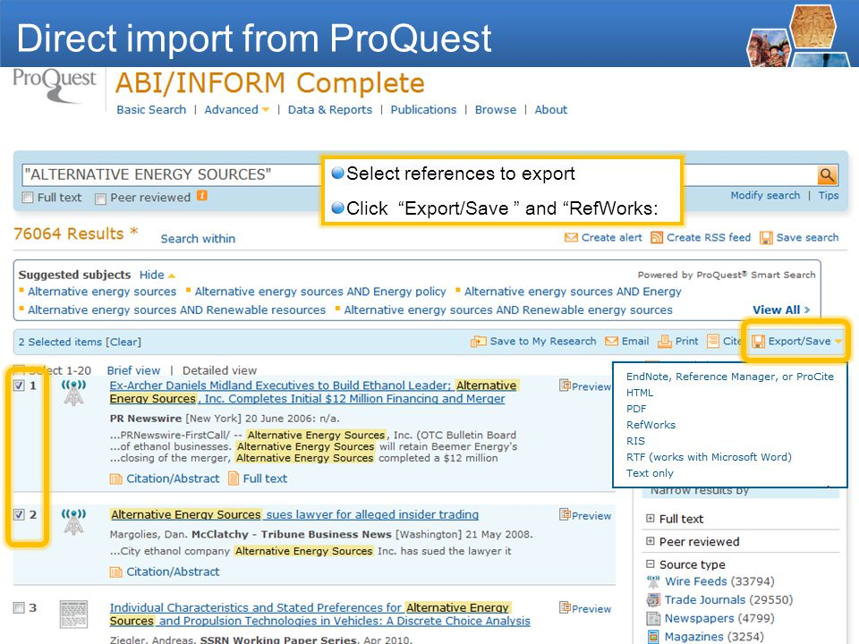 - 10 - ALTERNATIVE ENERGY SOURCES Direct import from ProQuest