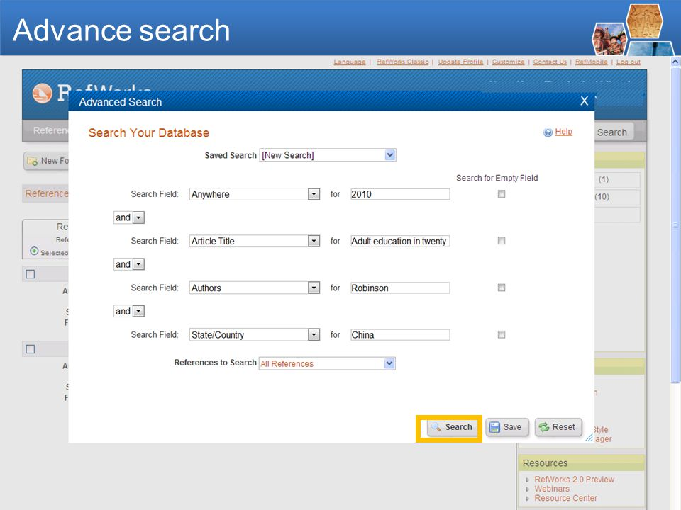 - 46 - Advanced Search keyword
