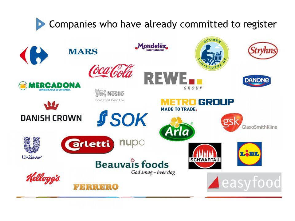 Companies who have already committed to register