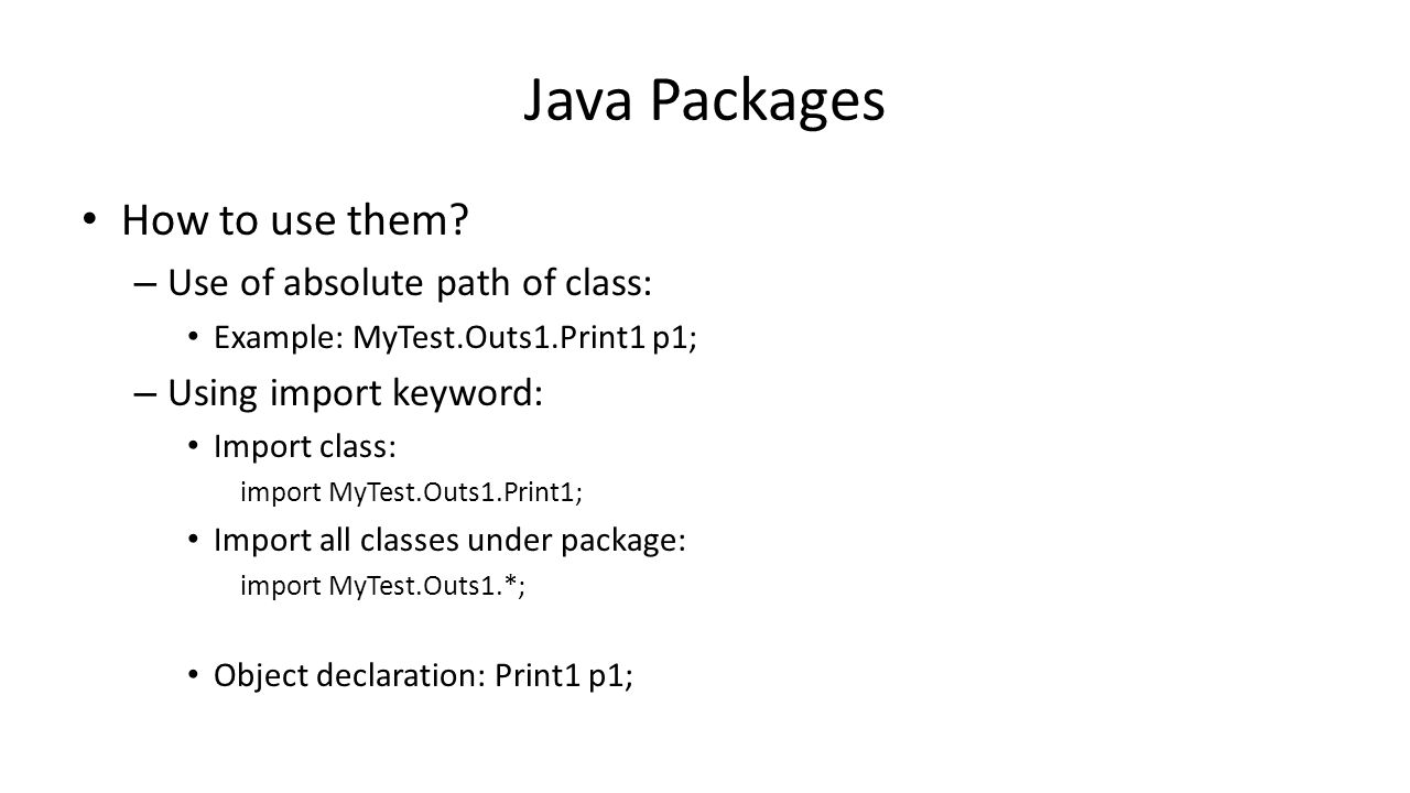 Junit - Example Interface: package spl.util; /** * All objects are of type T.