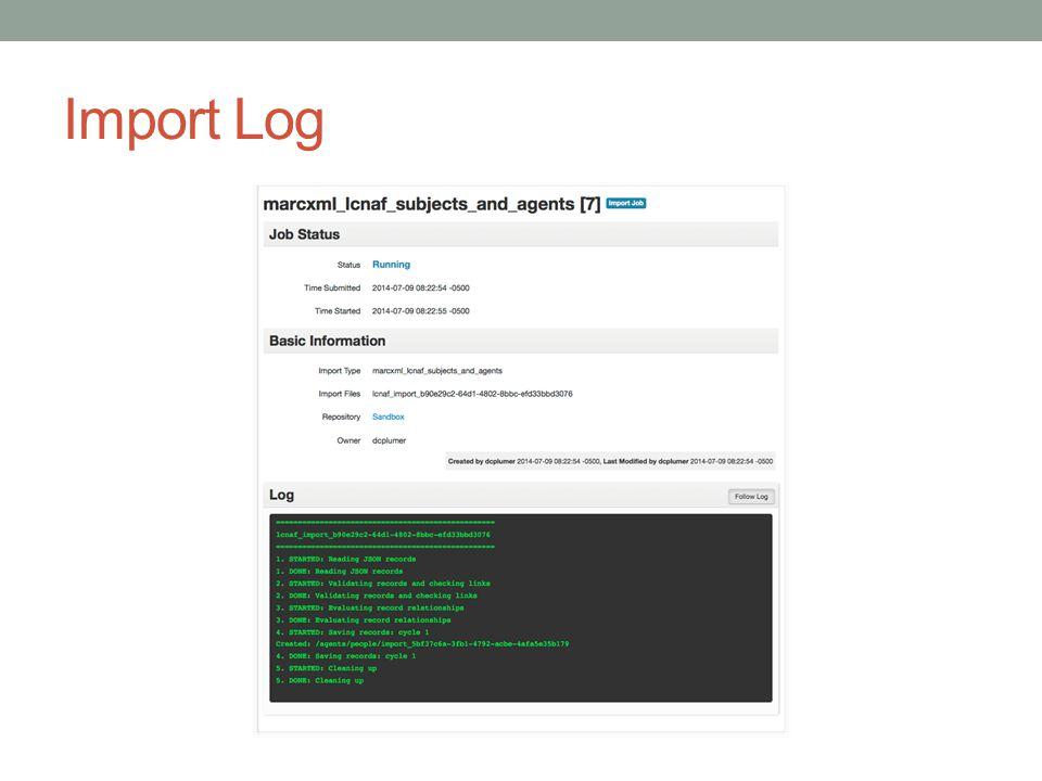 Import Log