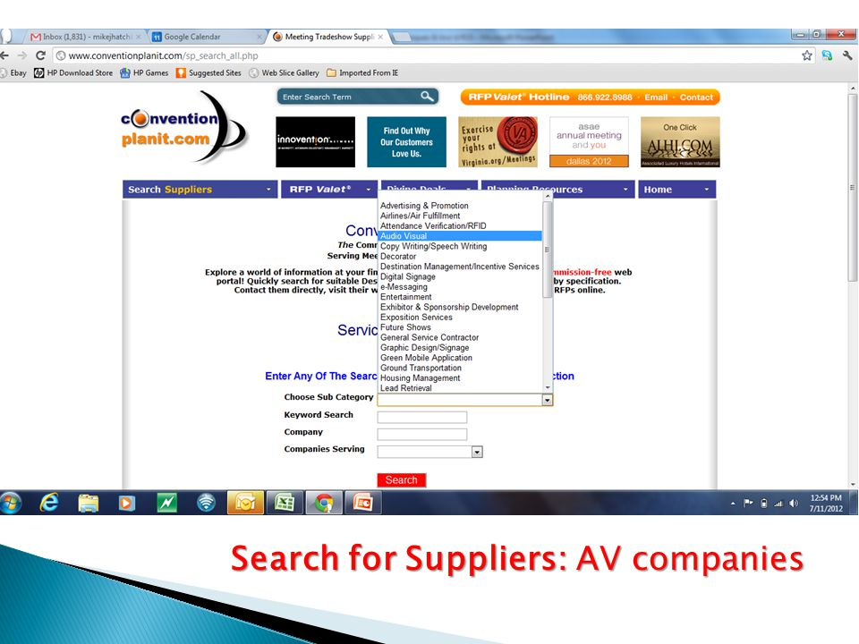 Search for Suppliers: AV companies