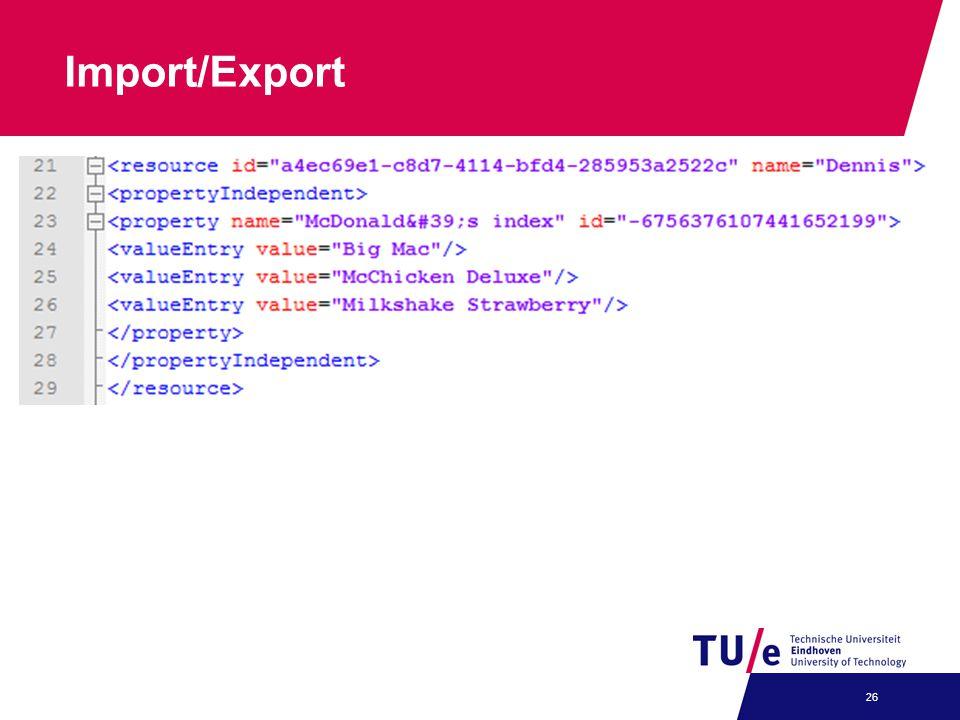 Import/Export 26