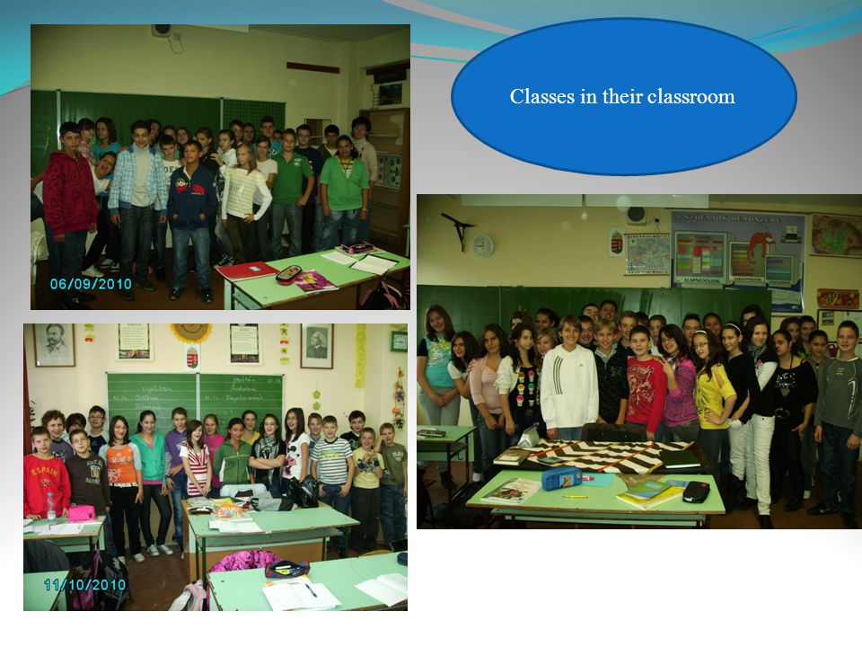 Classes in their classroom