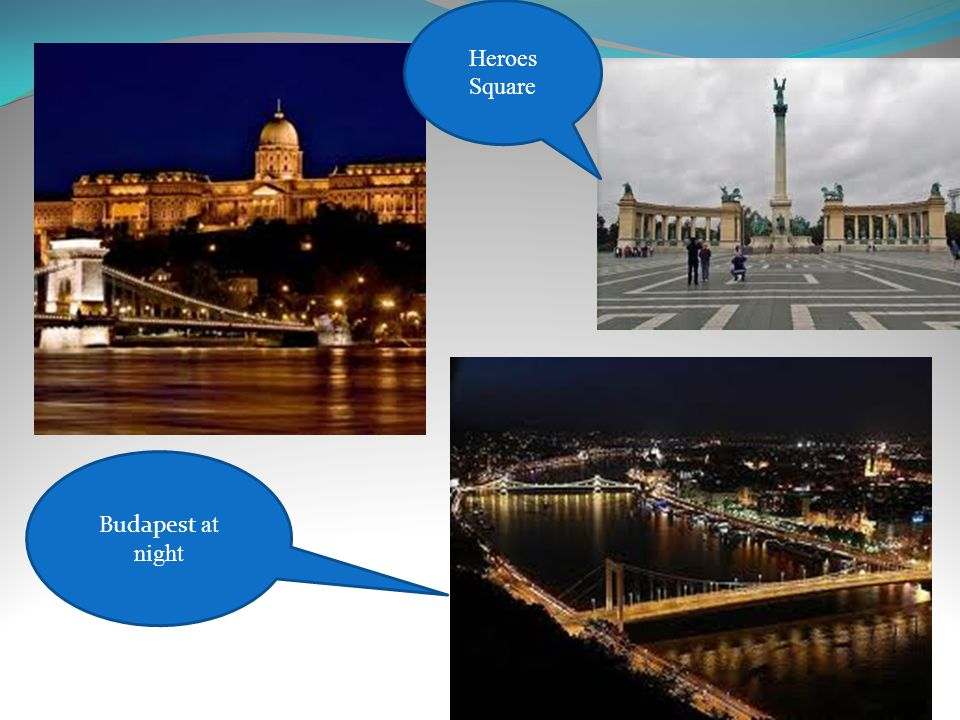 Budapest at night Heroes Square