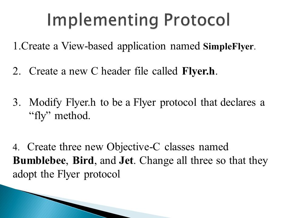 1.Create a View-based application named SimpleFlyer.