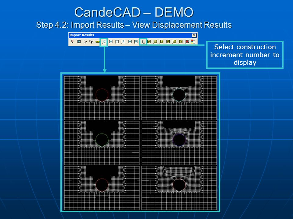 CandeCAD – DEMO Step 4.3: Import Results – View Bending Moment Results