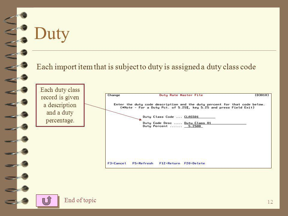 11 Duty Existing duty records may be maintained by using an option of 2 .