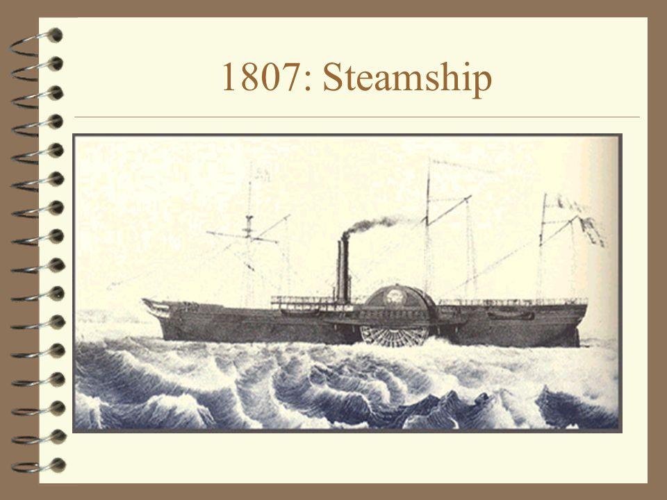 1807: Steamship